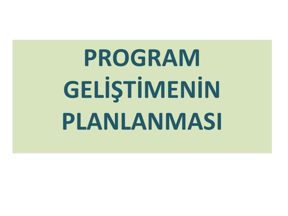 İhtiyaç ( Gereksinim ) Belirleme/ Saptama İhtiyaçların belirleme program geliştirme sürecinin ilk aşamasıdır.