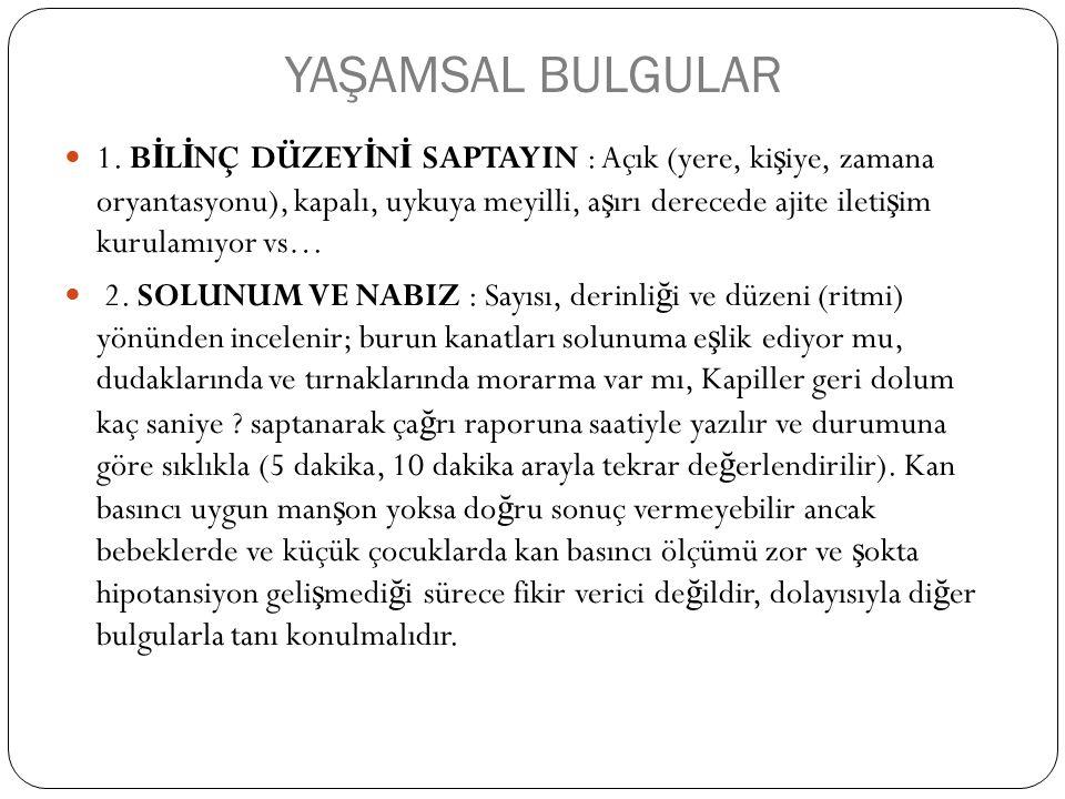 YAŞAMSAL BULGULAR 1.
