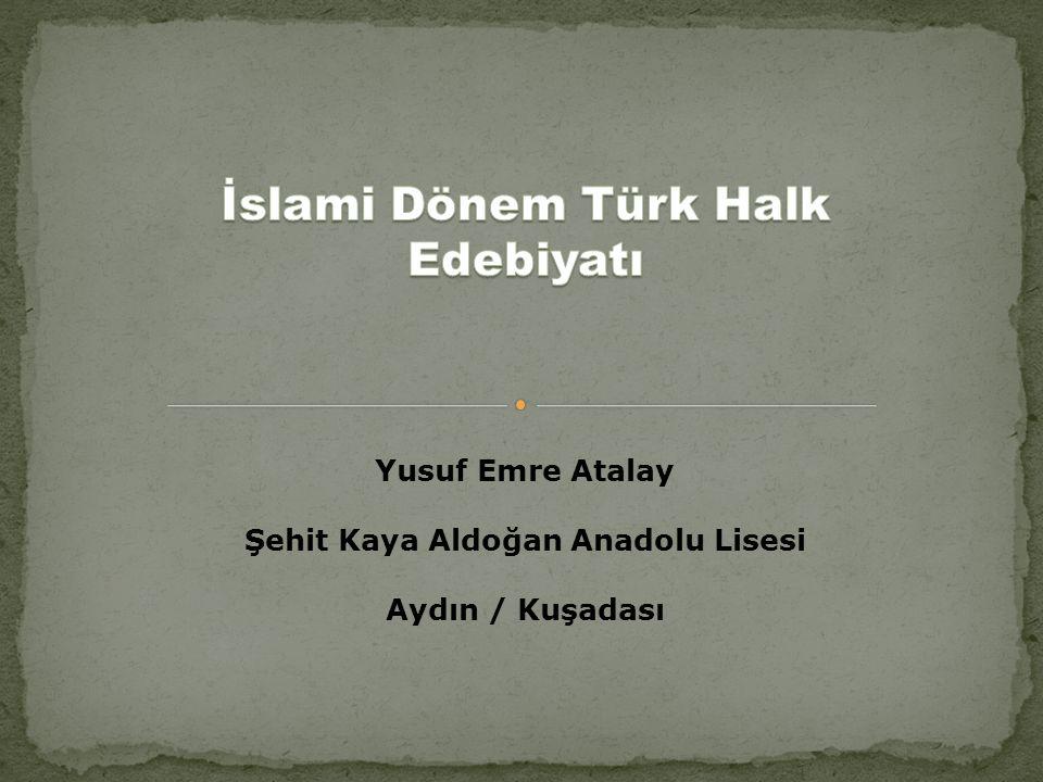 Yusuf Emre Atalay Şehit Kaya Aldoğan Anadolu Lisesi Aydın / Kuşadası