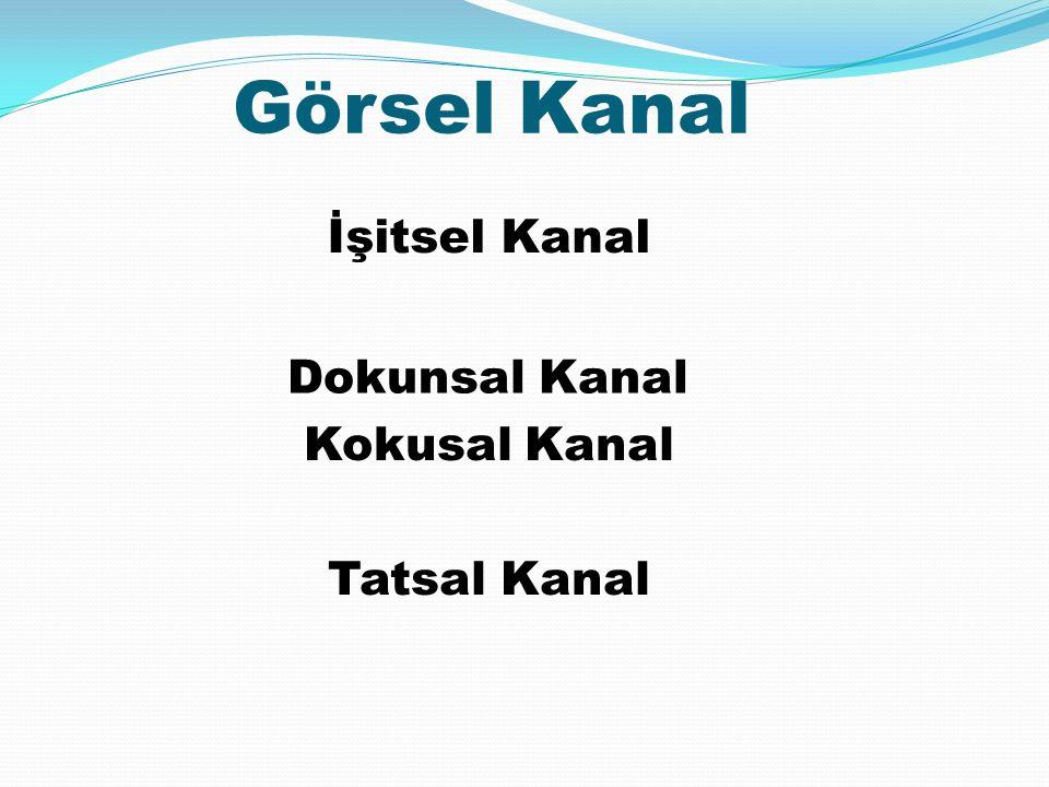 Görsel Kanal Kokusal Kanal Tatsal Kanal İşitsel Kanal Dokunsal Kanal