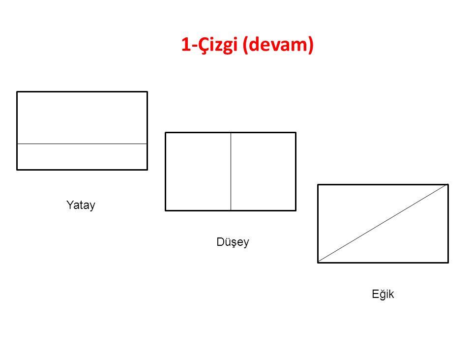 1-Çizgi (devam) Yatay Düşey Eğik