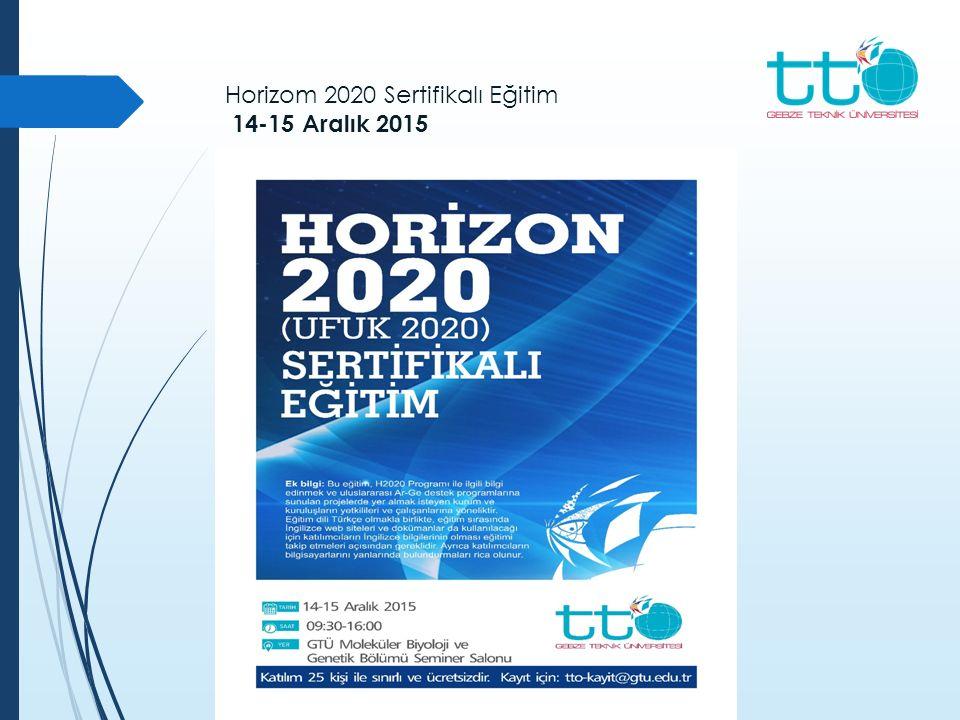 Horizom 2020 Sertifikalı Eğitim 14-15 Aralık 2015