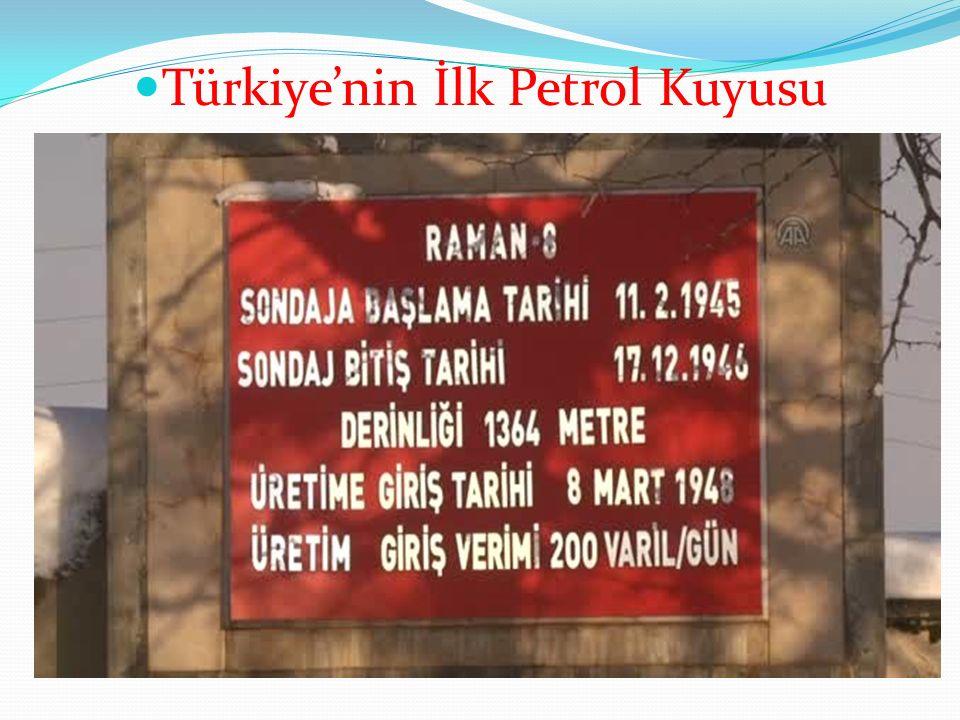 Türkiye'nin İlk Petrol Kuyusu