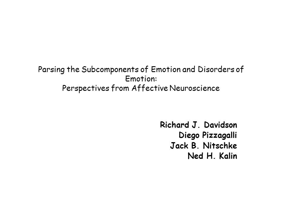 Hippokampus Kalin ve Shelton, 2000 Koşul 1: insan intruder + göz kontağı, NEC – tepki: donma (N=100/5) Koşul 2: insan intruder + staring - tepki: agresif davranış Sonuç: Bağlama uygun şekilde davranış regülasyonunda hippokampal disfonksiyon izlenmiş.