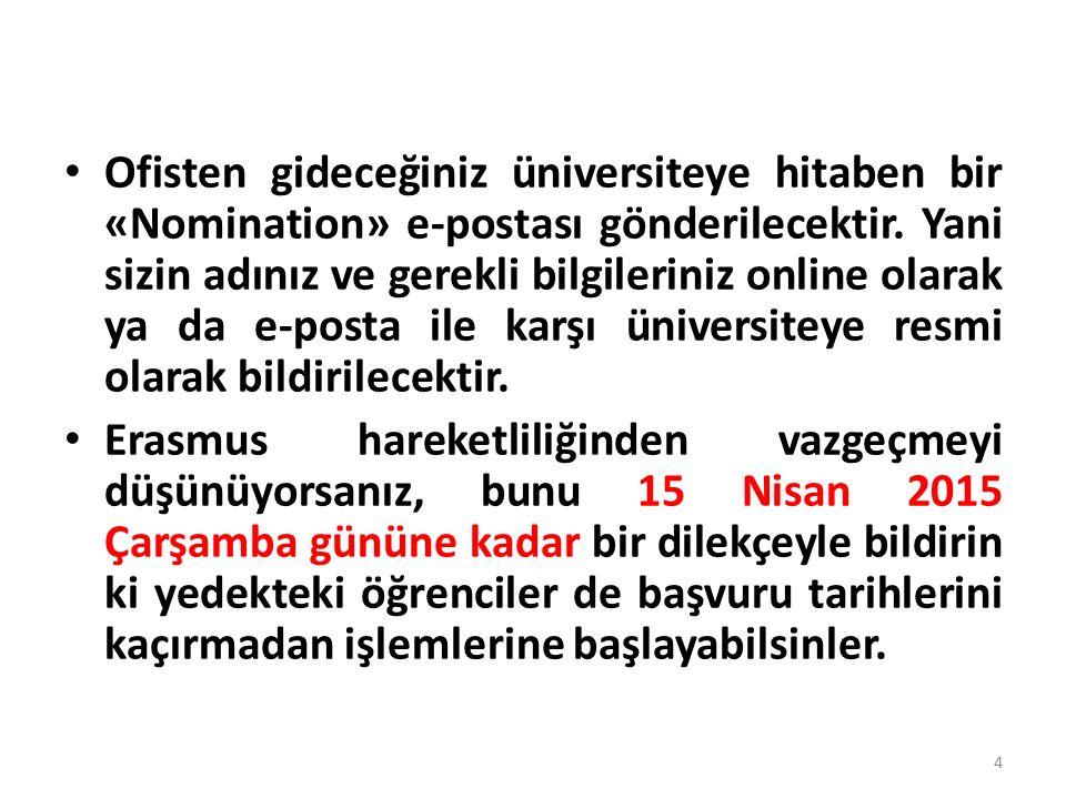 Erasmus Kurum Koordinatörlüğü İLETİŞİM Tel: 202 2085 202 2084 e-posta: erasmus@gazi.edu.trerasmus@gazi.edu.tr 35