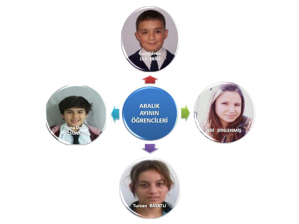 ARALIK AYININ ÖĞRENCİLERİ Cemil Eren LEBLEBİCİ Elif DİNLENMİŞ Turcan BAYATLI Tuna Doğa ÖZSÖNMEZ