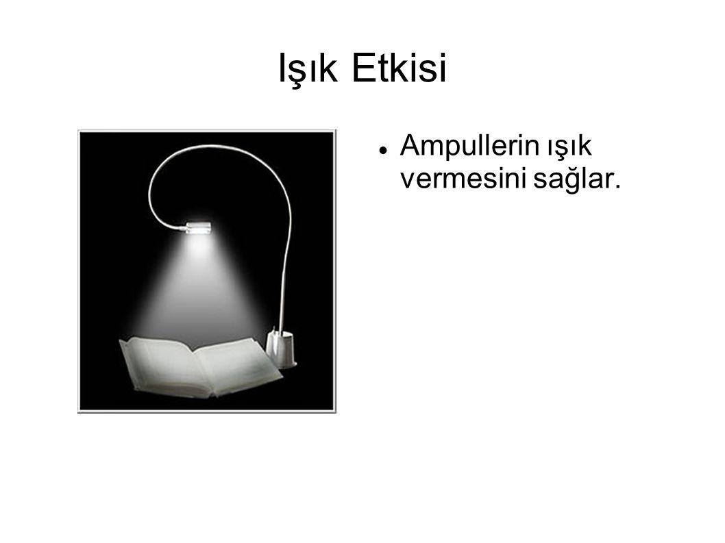 Işık Etkisi Ampullerin ışık vermesini sağlar.