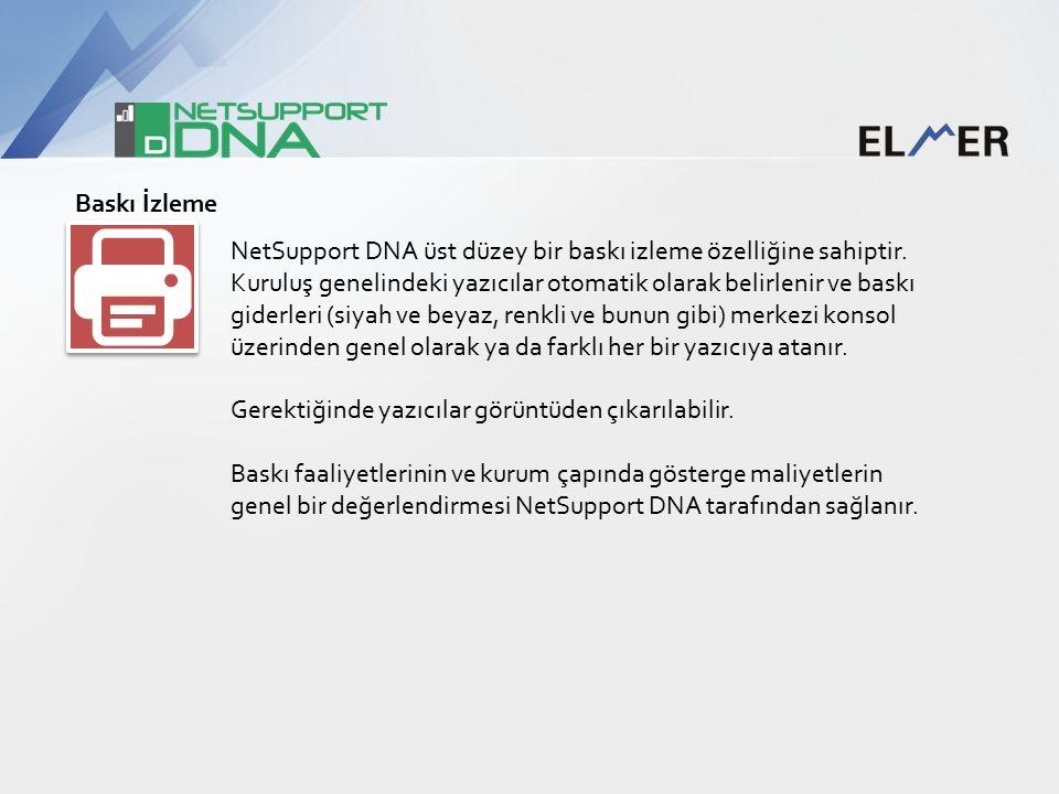 Baskı İzleme NetSupport DNA üst düzey bir baskı izleme özelliğine sahiptir.