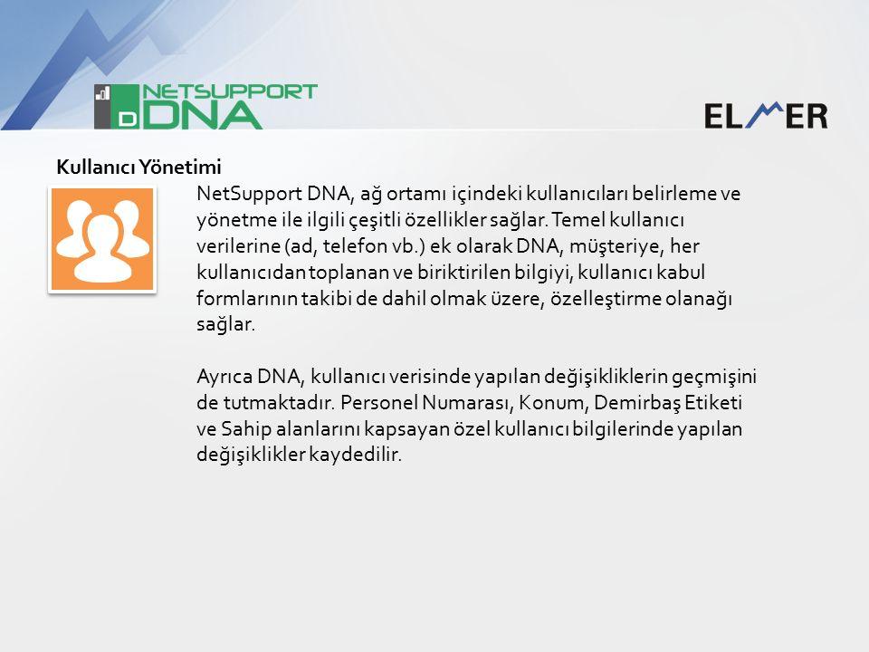 Kullanıcı Yönetimi NetSupport DNA, ağ ortamı içindeki kullanıcıları belirleme ve yönetme ile ilgili çeşitli özellikler sağlar.
