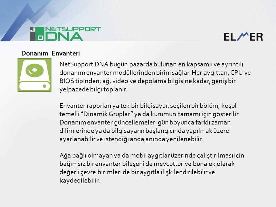 Donanım Envanteri NetSupport DNA bugün pazarda bulunan en kapsamlı ve ayrıntılı donanım envanter modüllerinden birini sağlar.