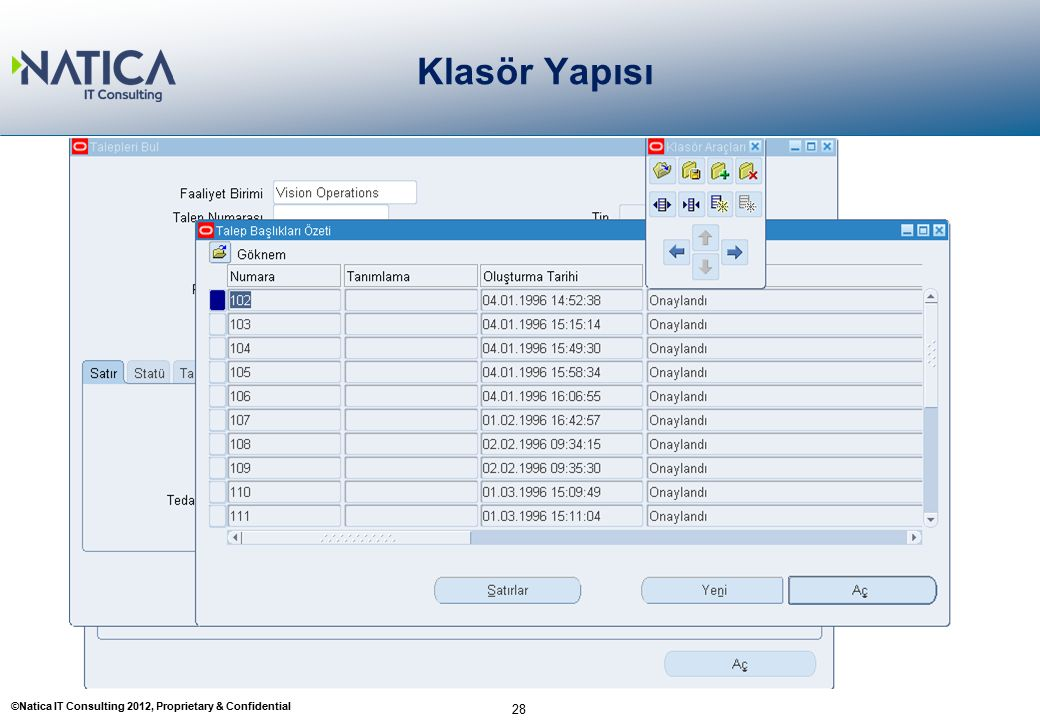 ©Natica IT Consulting 2012, Proprietary & Confidential Klasör Yapısı 28