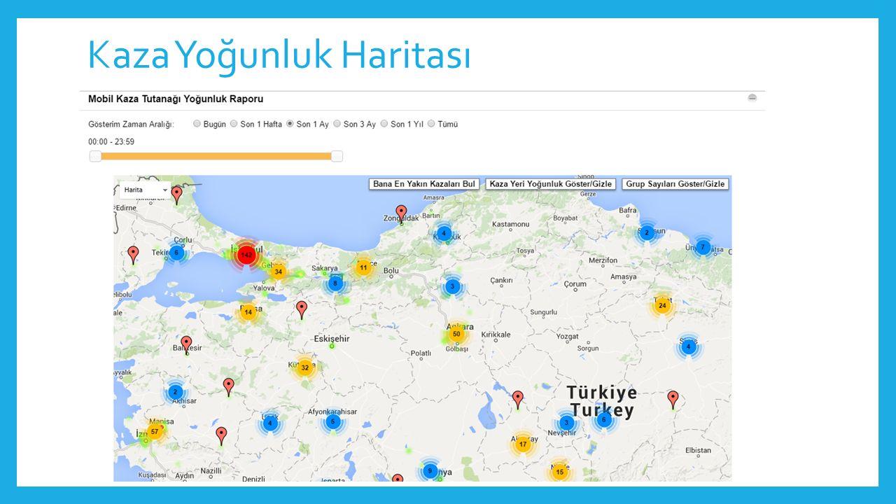 Kaza Yoğunluk Haritası