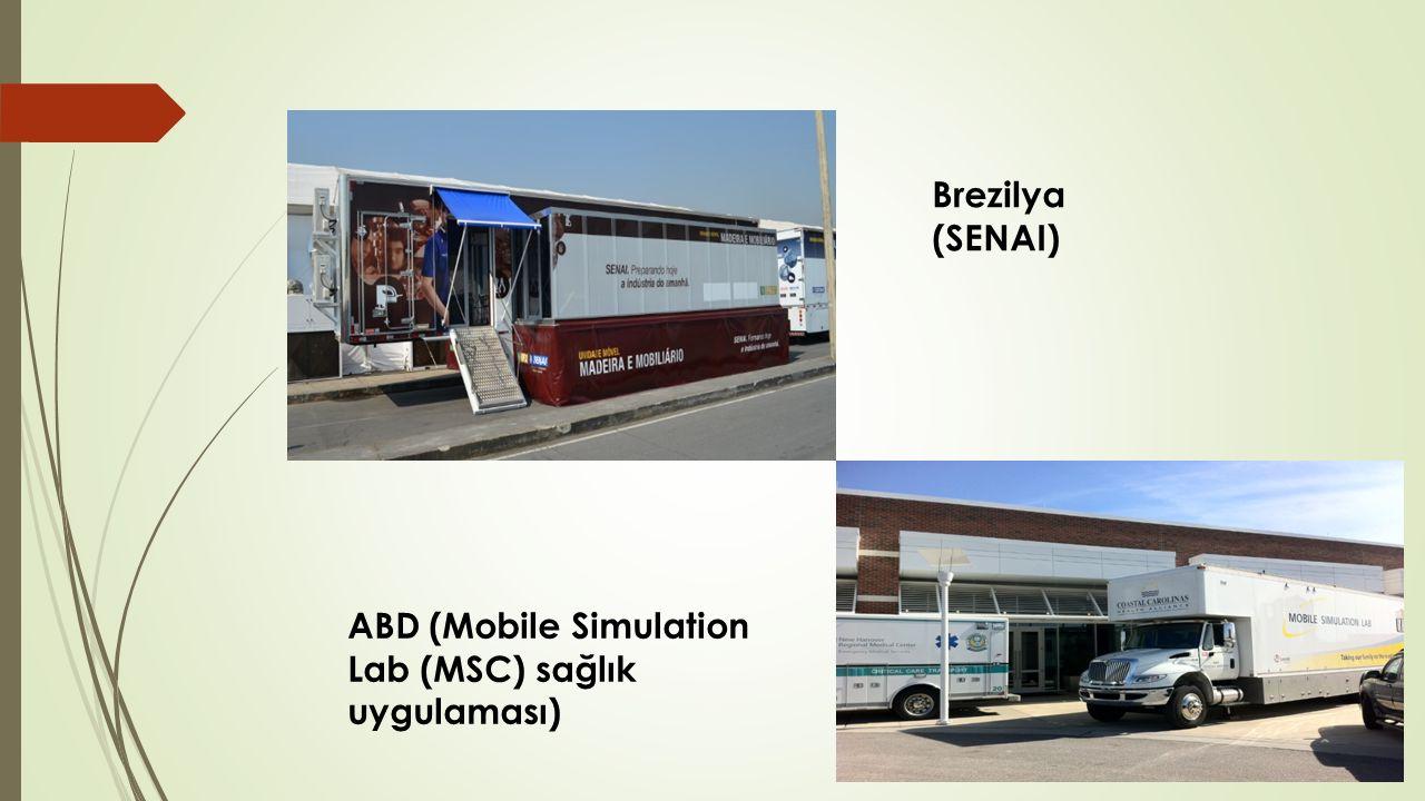 ABD (Mobile Simulation Lab (MSC) sağlık uygulaması) Brezilya (SENAI)