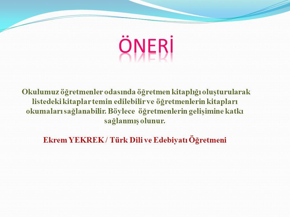 ÖRNEK KİTAP LİSTESİ DEĞERLENDİRME 1.) Türkiye'nin Maarif Davası, Topçu'nun 1939-1973 yılları arasında yazdığı eğitime ilişkin 20 yazıdan oluşur.