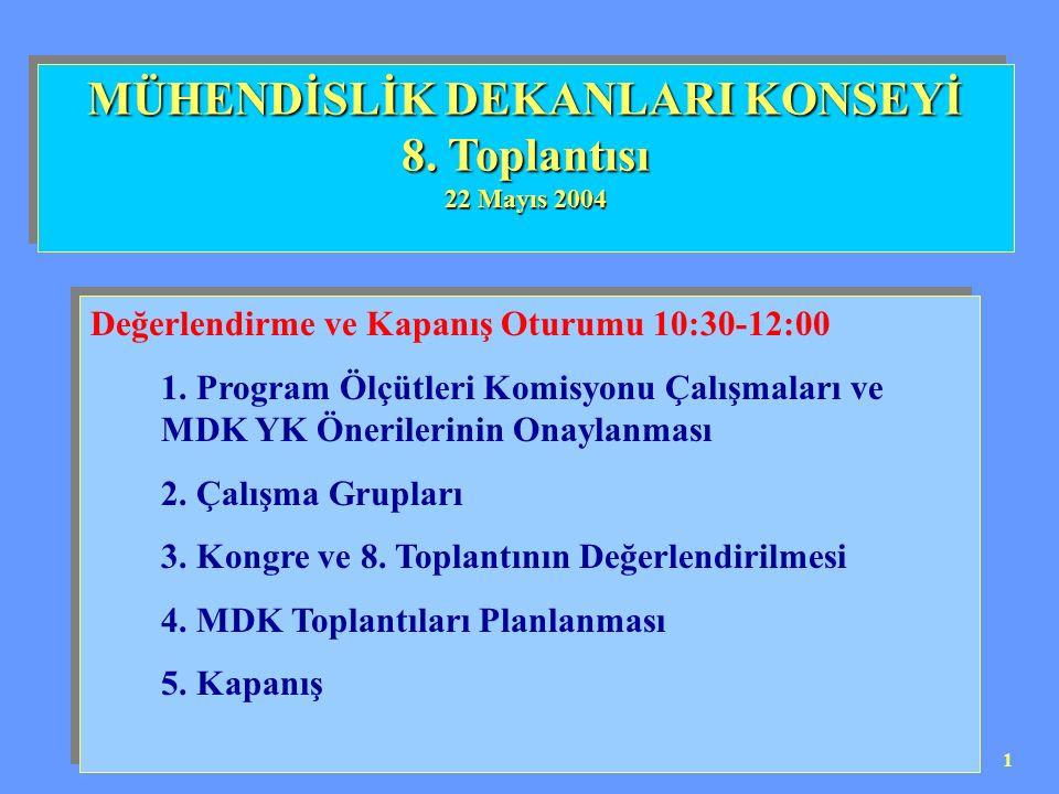 2 Program Ölçütleri Komisyonu Üyeler: Prof.Dr. Mehmet Demirkol Doç Dr.