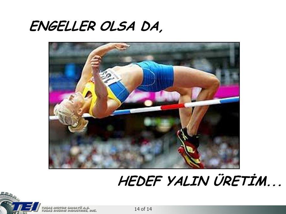 14 of 14 ENGELLER OLSA DA, HEDEF YALIN ÜRETİM...