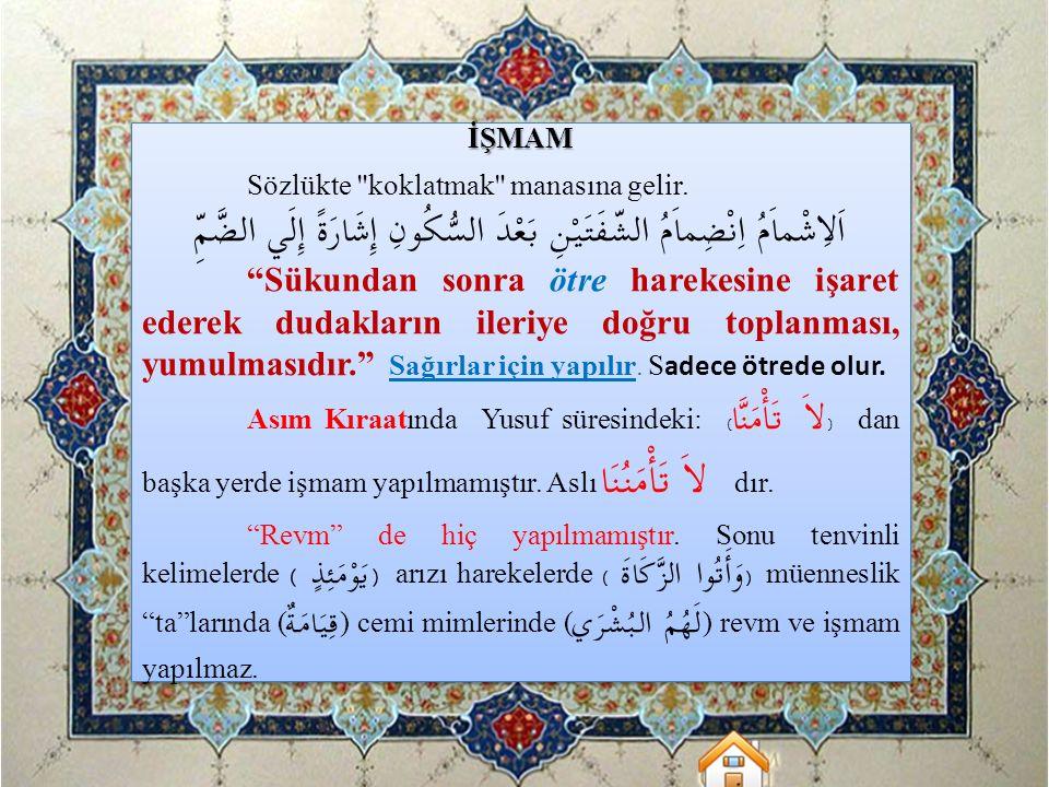 İŞMAM Sözlükte