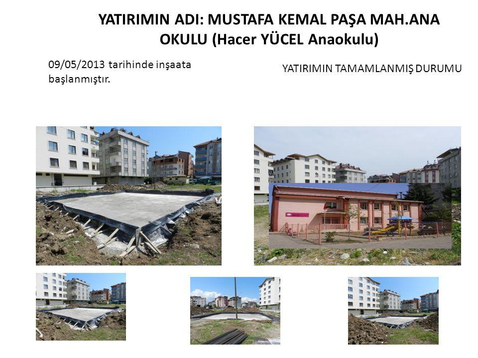 2012 Yatırım Programına alınan İmam Hatip Lisesi Kapalı Spor Salonu inşaatında çatı tamamlanmıştır.