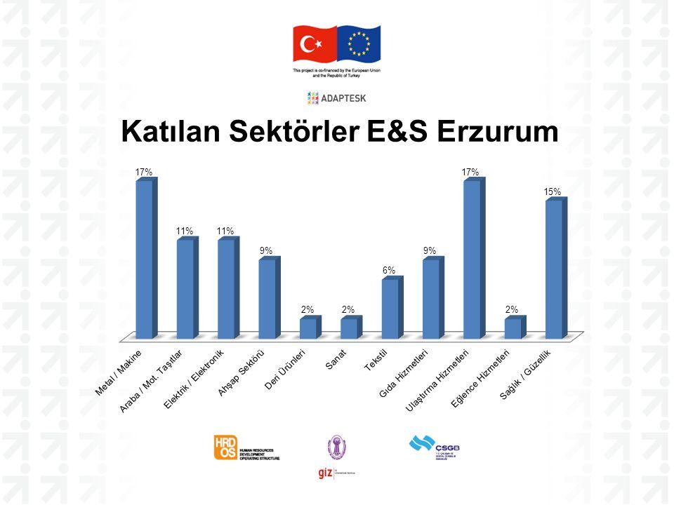 Katılan Sektörler E&S Erzurum