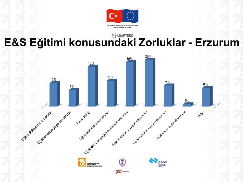 E&S Eğitimi konusundaki Zorluklar - Erzurum