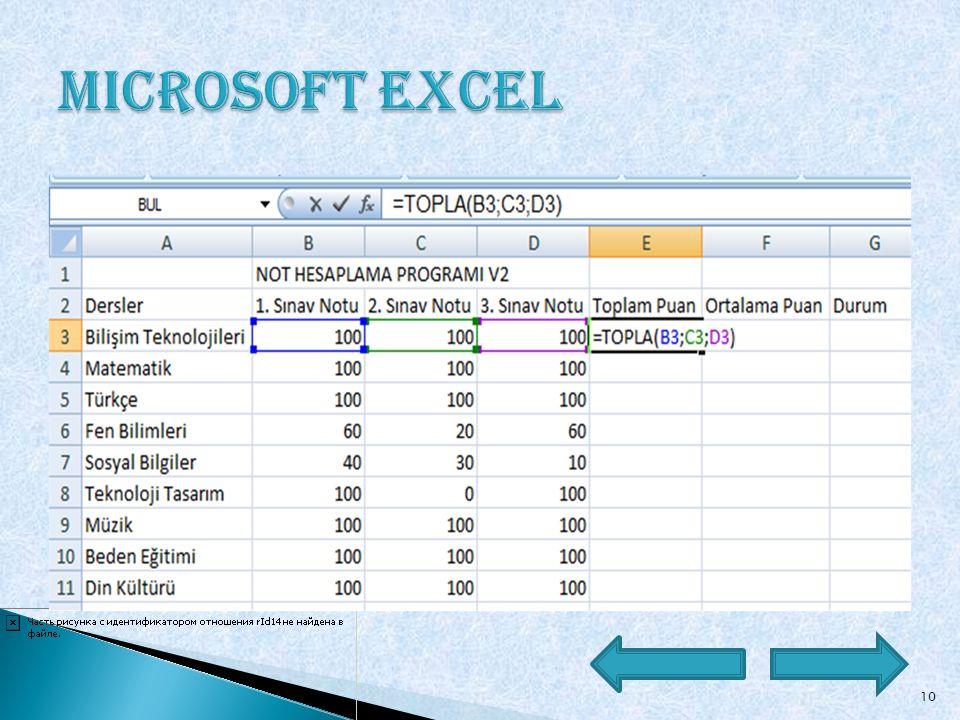 Çalışma Kitabı: Excel'de yapılmış bir dosya, bir çalışma kitabıdır. Çalışma Sayfası: Çalışma kitaplarını temsil eden belge pencerelerinin alt kısmında