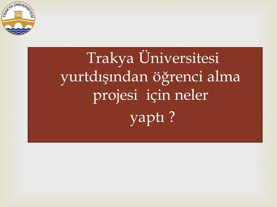  Trakya Üniversitesi Başvuru √Adaylar 10 tercih yapabiliyor.