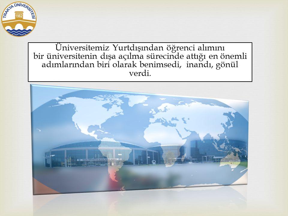   Trakya Üniversitesi yurtdışından öğrenci alma projesi için neler  yaptı ?