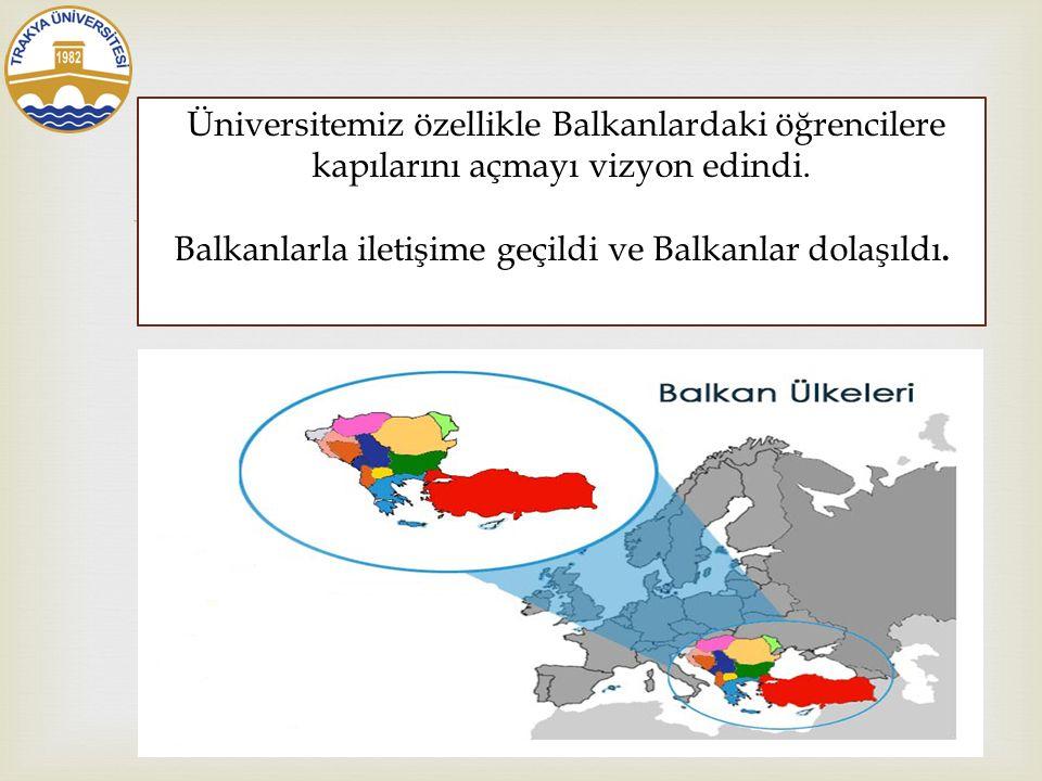  Trakya Üniversitesi kültür ve medeniyetimizi tanıtarak barışı hedef haline getirdi.