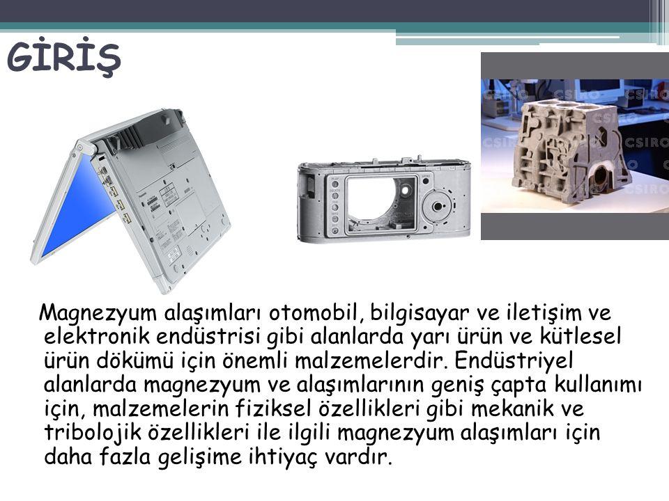 Magnezyum alaşımları otomobil, bilgisayar ve iletişim ve elektronik endüstrisi gibi alanlarda yarı ürün ve kütlesel ürün dökümü için önemli malzemeler