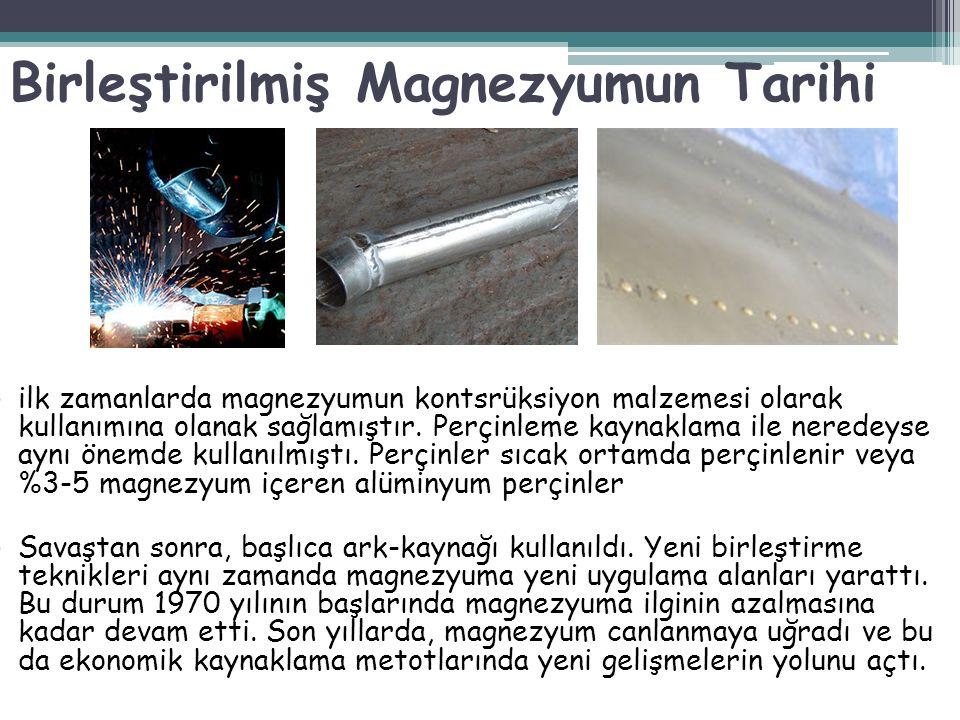ilk zamanlarda magnezyumun kontsrüksiyon malzemesi olarak kullanımına olanak sağlamıştır. Perçinleme kaynaklama ile neredeyse aynı önemde kullanılmışt
