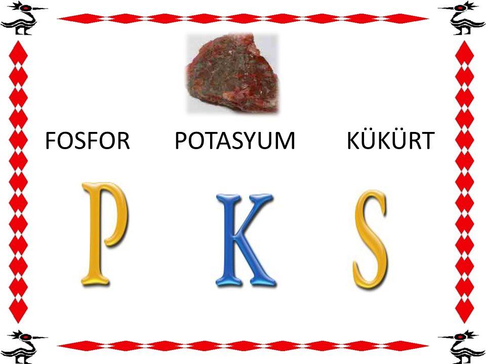 FOSFOR POTASYUM KÜKÜRT