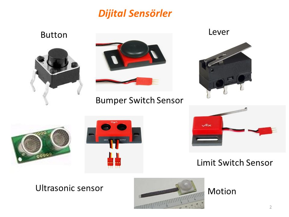 2 Button Motion Dijital Sensörler Bumper Switch Sensor Lever Limit Switch Sensor Ultrasonic sensor
