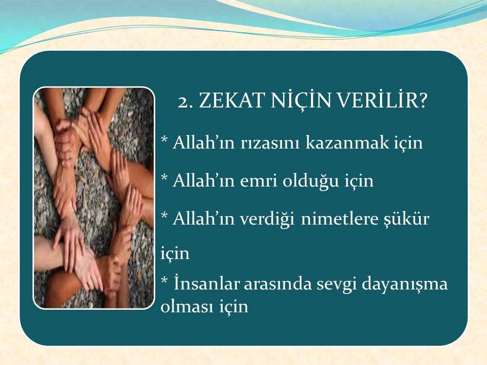 İslamın beş şartından biri olan zekat mali bir ibadettir.