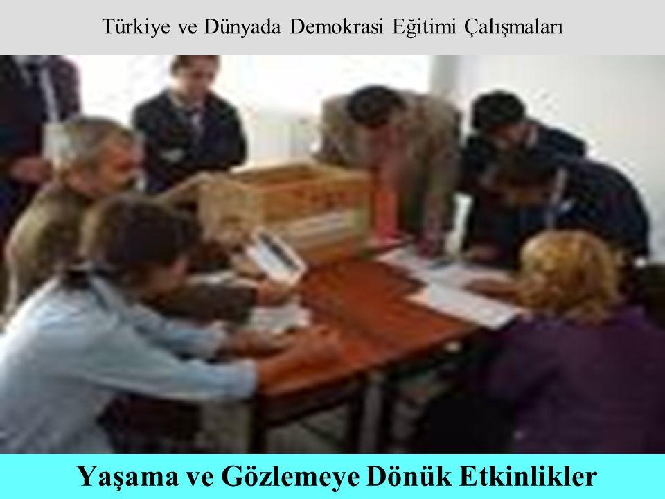 Türkiye ve Dünyada Demokrasi Eğitimi Çalışmaları Yaşama ve Gözlemeye Dönük Etkinlikler