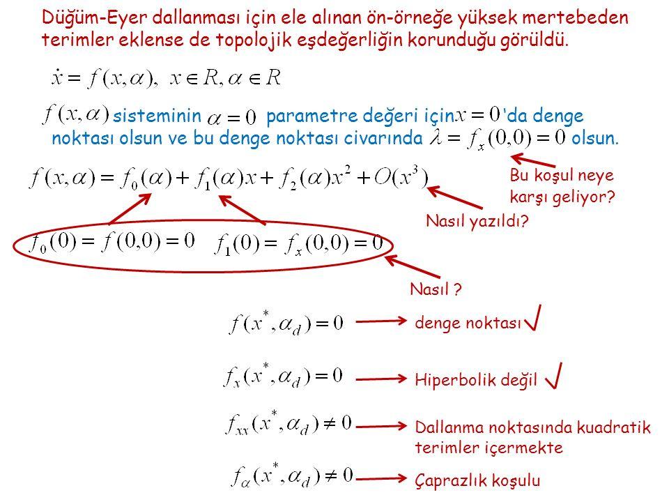 Ayrık zamanda bir parametreye bağlı yerel dallanmalar için basit koşullar Y.A.