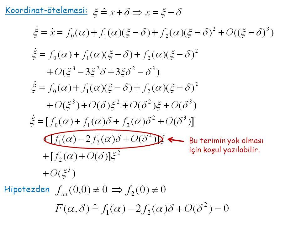 Teorem: (İmplicit function ) 'de bir noktayı ile belirtelim matrisi tersinir ise a 'yı içeren bir açık küme U ve b 'yi içeren bir açık küme V olmak üzere vardır, öyle ki: Hatırlatma Hipotezden Kapalı fonksiyon teoreminden yerel olarak fonksiyonu var ve tektir, ve Nasıl?