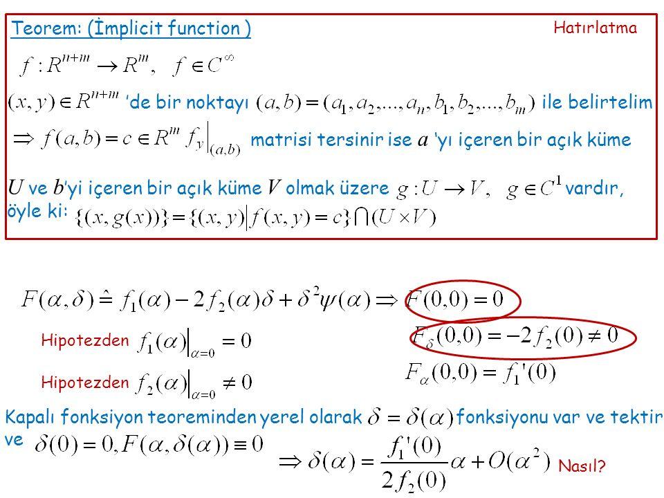 Yeni bir parametre tanımlama: HipotezdenTers fonksiyon teoreminden Ölçekleme:
