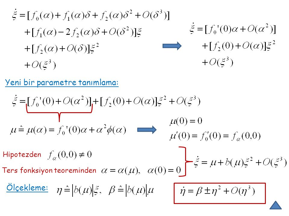Lemma sistemi sistemine orijin civarında topolojik olarak eşdeğerdir.