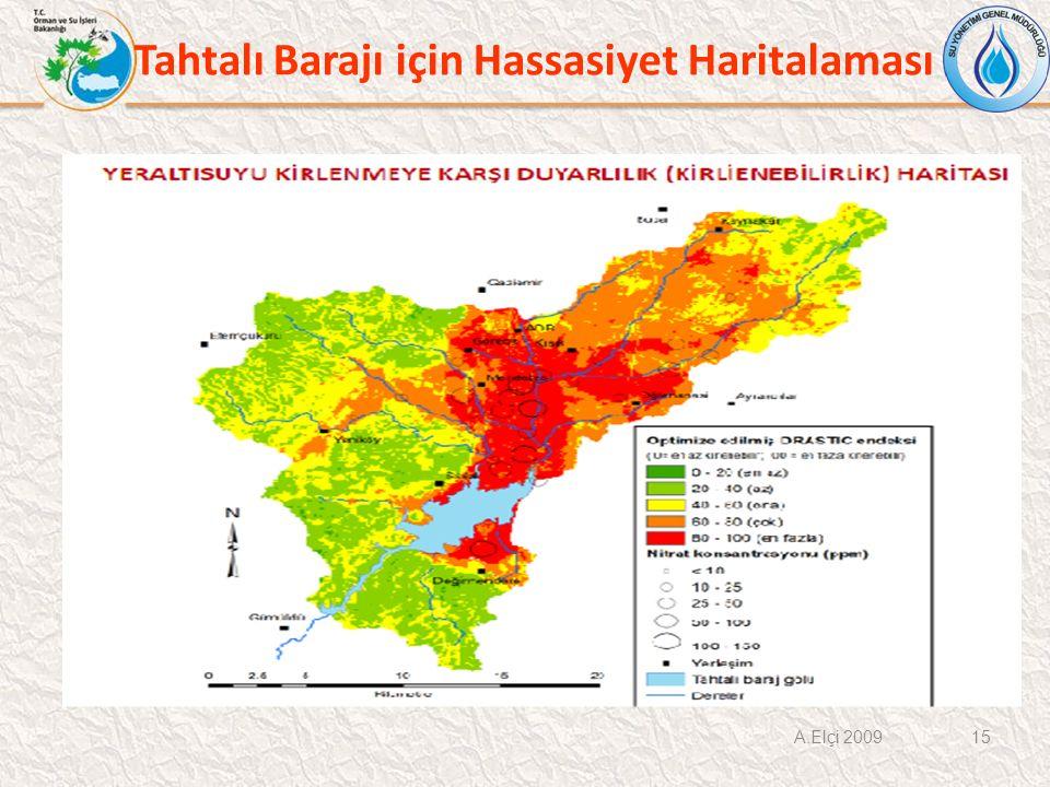 Tahtalı Barajı için Hassasiyet Haritalaması A.Elçi 2009 15