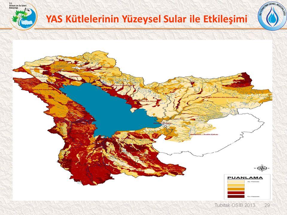 Tubitak-OSİB 2013 29 YAS Kütlelerinin Yüzeysel Sular ile Etkileşimi