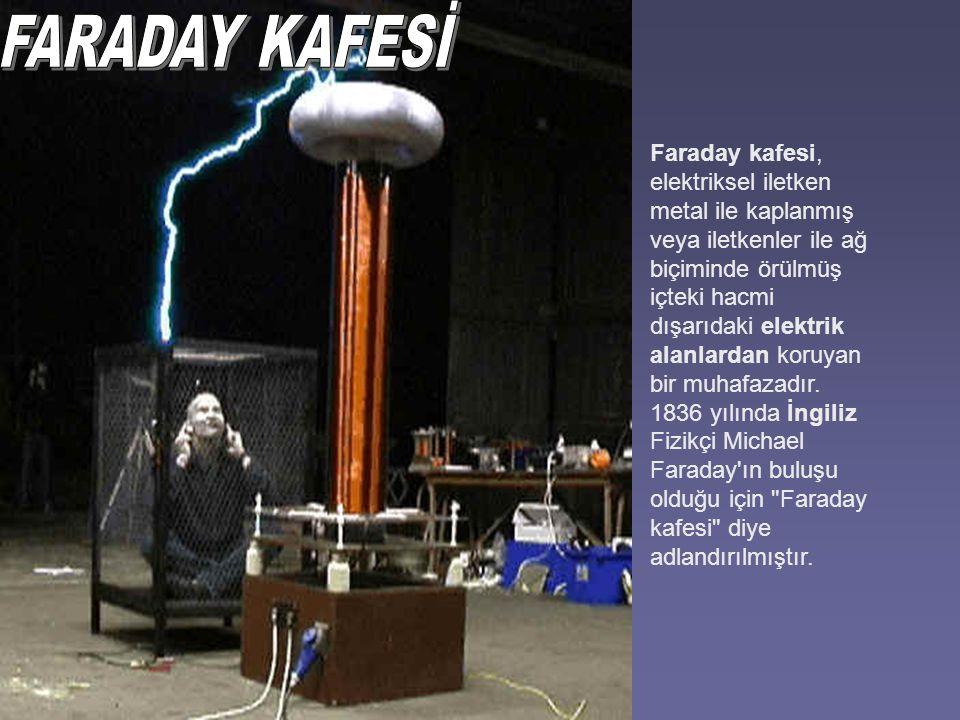 Faraday kafesi, elektriksel iletken metal ile kaplanmış veya iletkenler ile ağ biçiminde örülmüş içteki hacmi dışarıdaki elektrik alanlardan koruyan bir muhafazadır.
