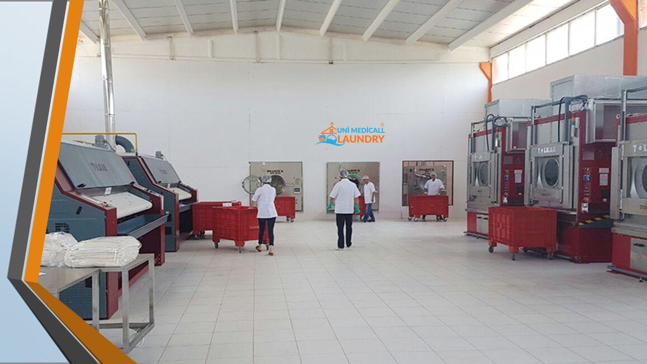 ÜRETİM KAPASİTESİ VE TEKNOLOJİ UNİ MEDİCALL LAUNDRY, günlük 12 ton çamaşır yıkama kapasitesine sahip modern tesislerinde sizlere VIP hizmet sunmak ama