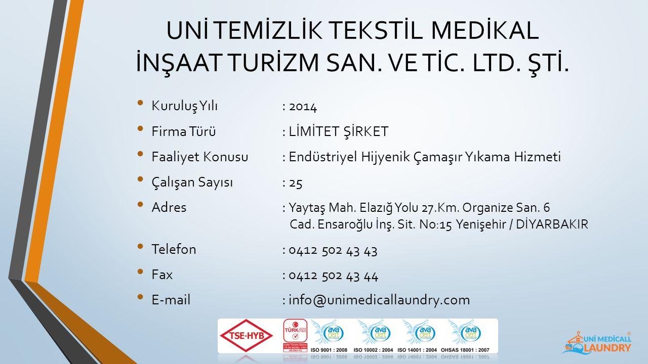 Firma Tanıtım Sunumu Endüstriyel Çamaşır Yıkama Sektöründe Lider Firma www.unimedicallaundry.com