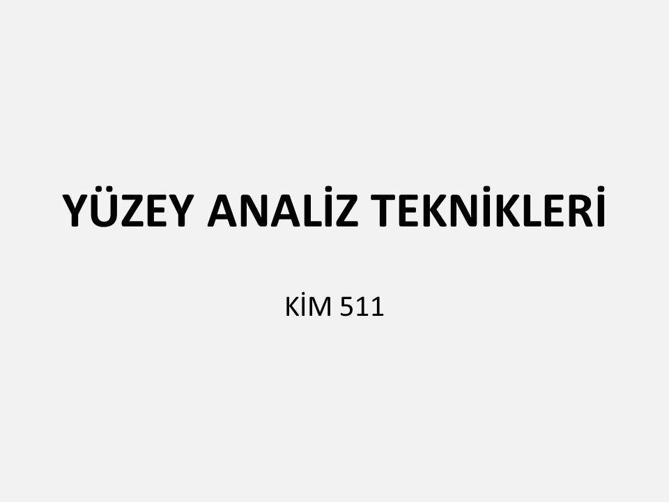 YÜZEY ANALİZ TEKNİKLERİ KİM 511