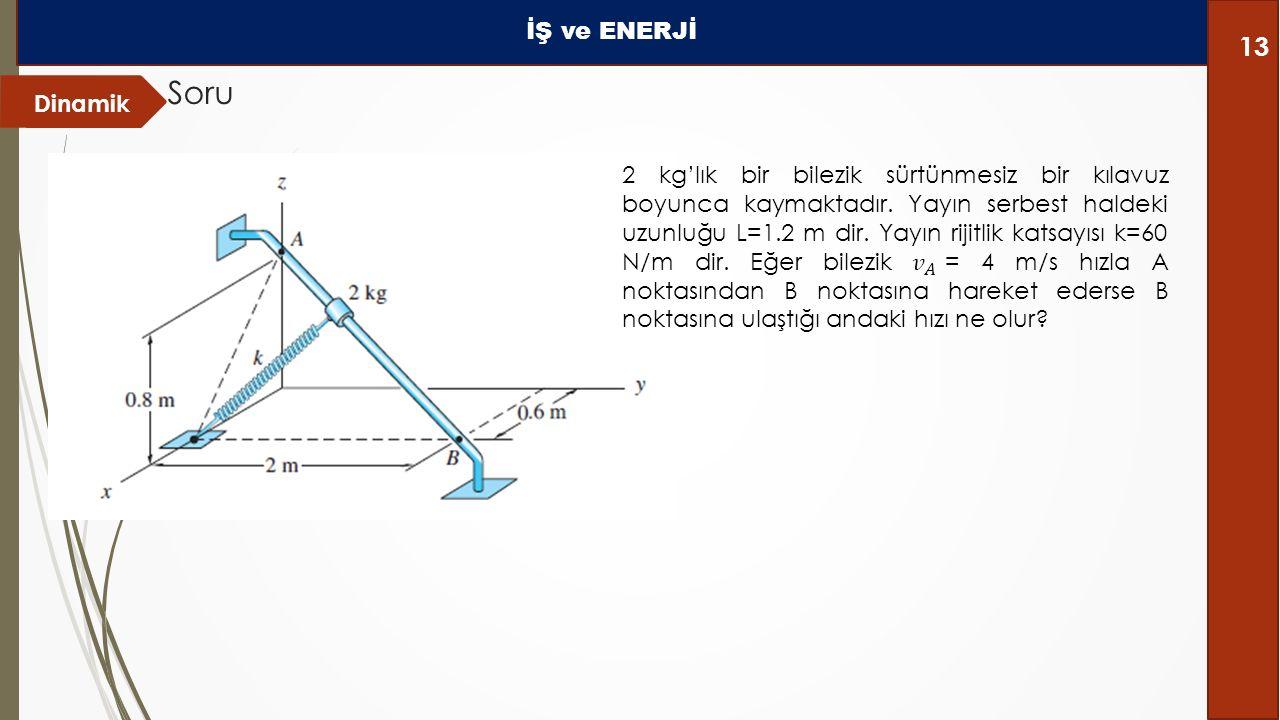 Dinamik Soru İŞ ve ENERJİ 13