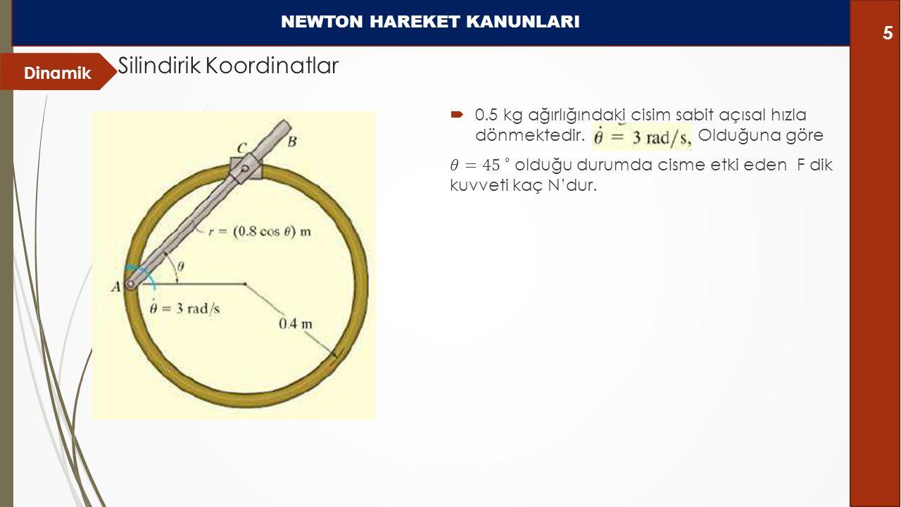 Dinamik Silindirik Koordinatlar NEWTON HAREKET KANUNLARI 5