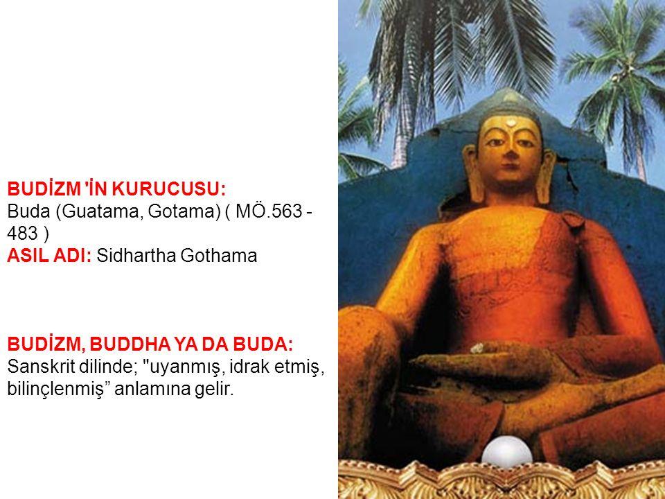 BUDİZM DE İNANCIN TEMELİ ÜÇ ESASA DAYANIR 1-Buda ya sığınırım, 2-Dhamma ya (dine,doktrine) sığınırım, 3-Sangha ya sığınırım (Rahipler Cemaati,dünyanın en eski bekar rahipler topluluğu) cümlesi oluşturur Bunlardan birini inkar eden kişi budist sayılmaz ve Budizm e girmek için yukarıdaki cüm leyi söylemek gerekir.