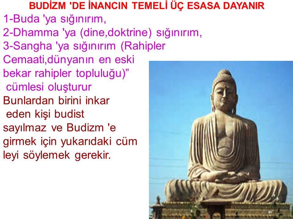DİN ADAMLARINA: Rahip denmektedir.Budist rahip topluluğuna SANGHA denir.