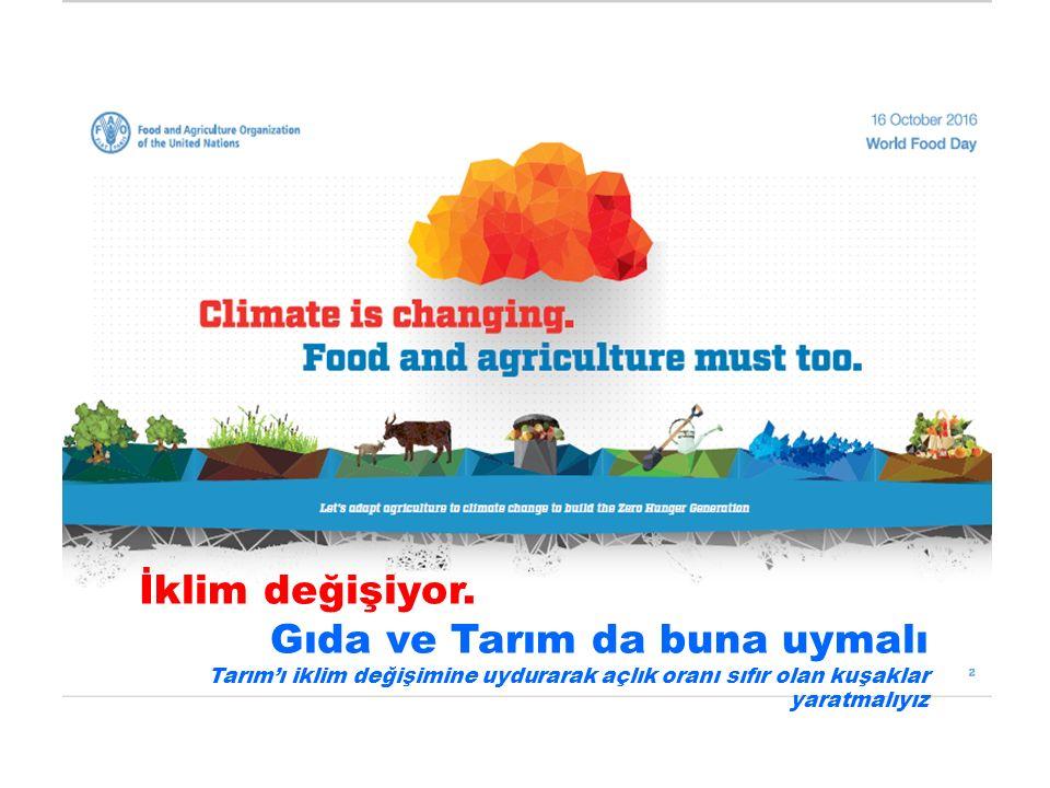 İklim değişiyor.Gıda ve Tarım da buna uymalı BU NE DEMEK OLUYOR İ1 Iklim değişimi Gıda Ve Tarım,.