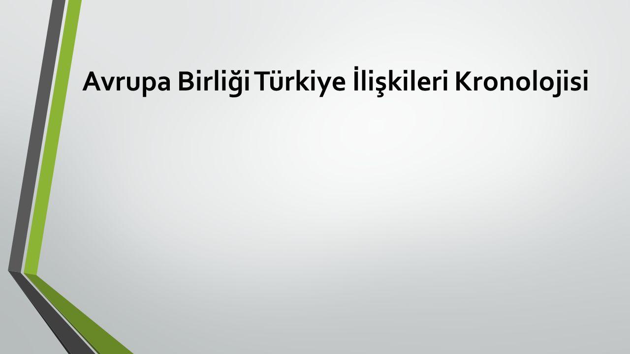 Avrupa Birliği Türkiye İlişkileri Kronolojisi